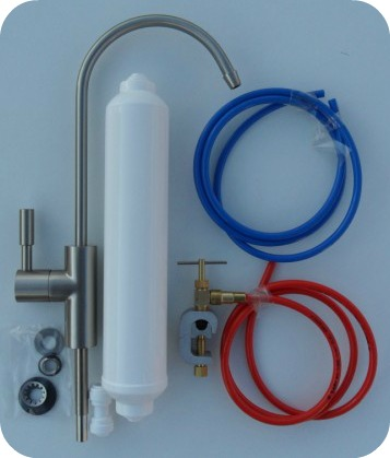 Scale Control /& Delux AT2SNP tap Brushed Nickel Inline Water Filter Kit system